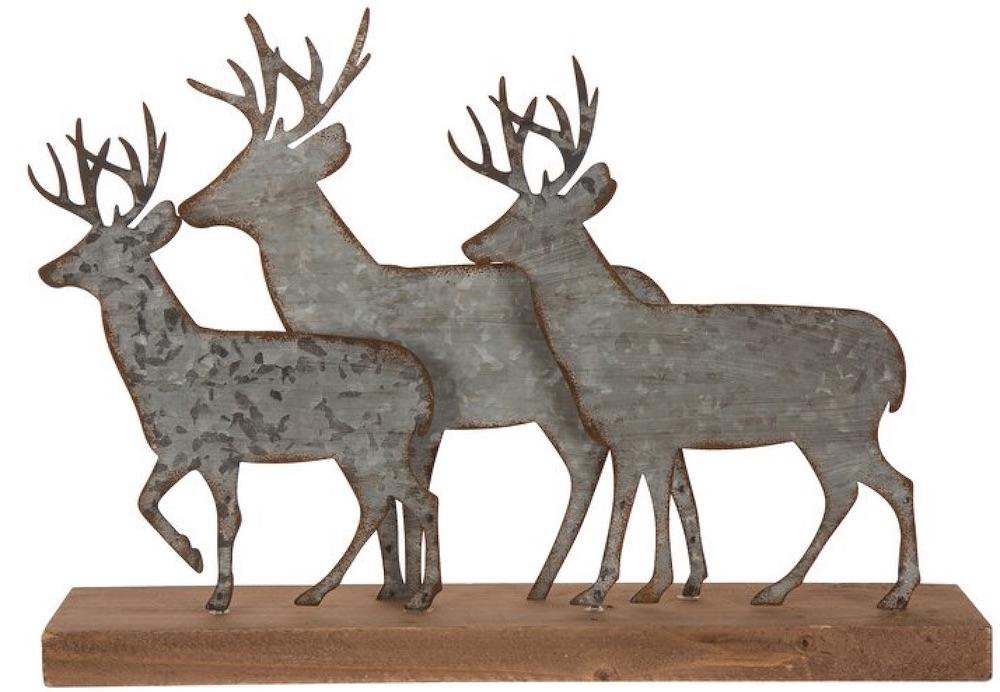 Celebrate the Season Metal Reindeer Table Décor #Decor #Christmas #Farmhouse #ChristmasDecor #FarmhouseDecor #FarmhouseChristmasDecor #HolidayDecor