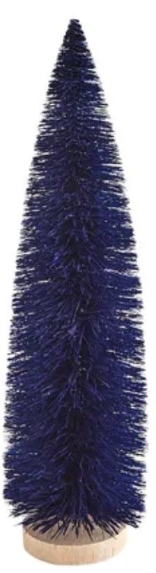 Holiday Decor Navy Bottle Brush Tree #Decor #ChristmasDecor #AffordableChristmasDecor #Christmas #ChristmasAccents #AffordableDecor
