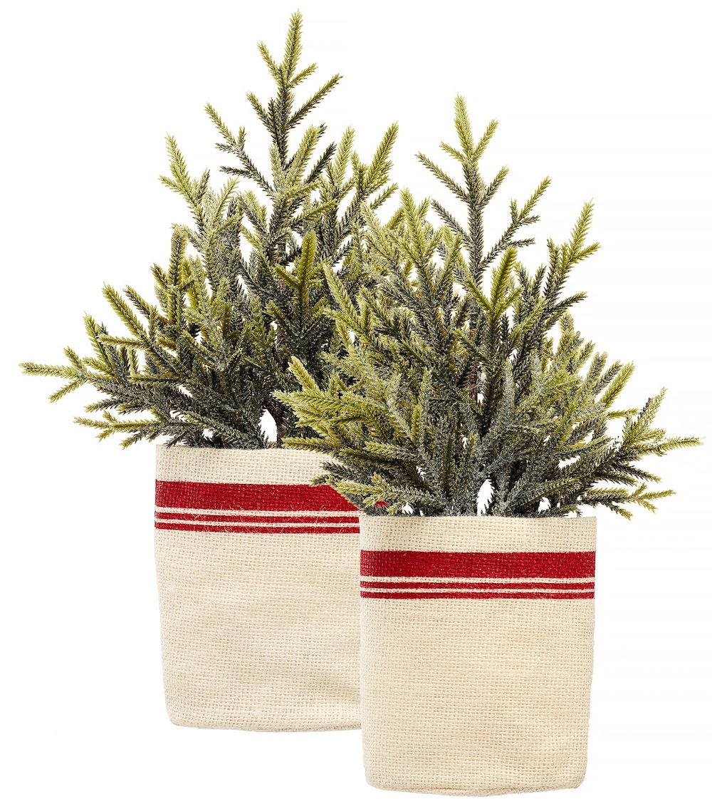 Holiday Decor Potted Pine Christmas Tree #Decor #ChristmasDecor #AffordableChristmasDecor #Christmas #ChristmasAccents #AffordableDecor