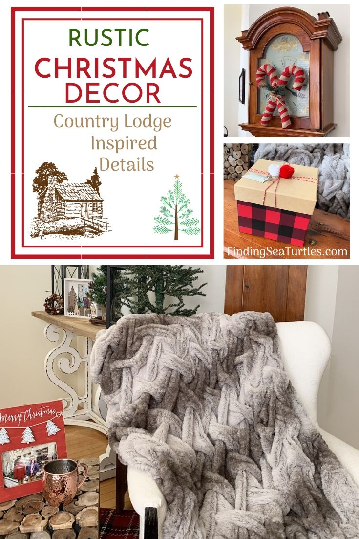 RUSTIC Christmas Decor Country Lodge Inspired Details #Decor #ChristmasDecor #RusticChristmas #RusticChristmasDecor #Christmas ChristmasCabin #ChristmasLodge #ChristmasAccents #HolidayDecor