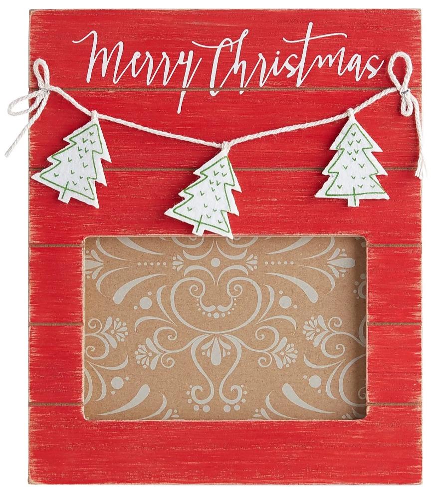 Celebrate the Season Red Merry Christmas Photo Frame #Decor #Christmas #Farmhouse #ChristmasDecor #FarmhouseDecor #FarmhouseChristmasDecor #HolidayDecor