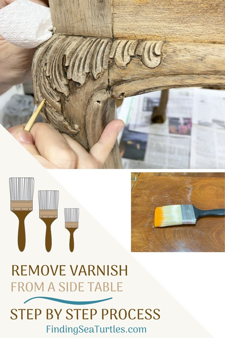 Remove Varnish from a Side Table #DIY #DIYFurnitureStripping #FurnitureRefinish #VarnishStripping