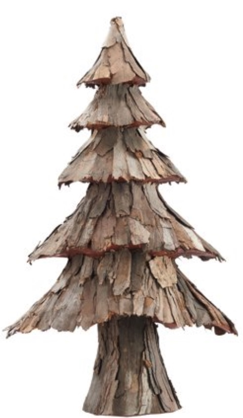 Rustic Bark Christmas Tree #Decor #ChristmasDecor #RusticChristmas #RusticChristmasDecor #Christmas ChristmasCabin #ChristmasLodge #ChristmasAccents #HolidayDecor