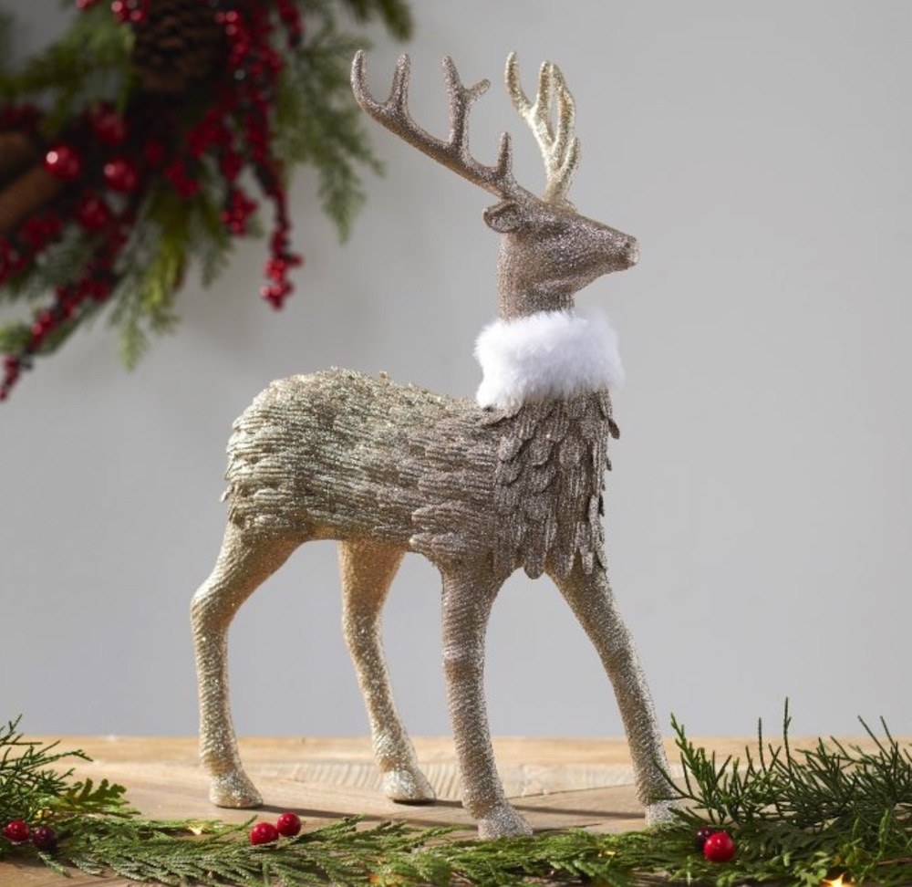 Affordable Christmas Accents Stag with Fur Collar #Decor #ChristmasDecor #AffordableChristmasDecor #Christmas #ChristmasAccents #AffordableDecor