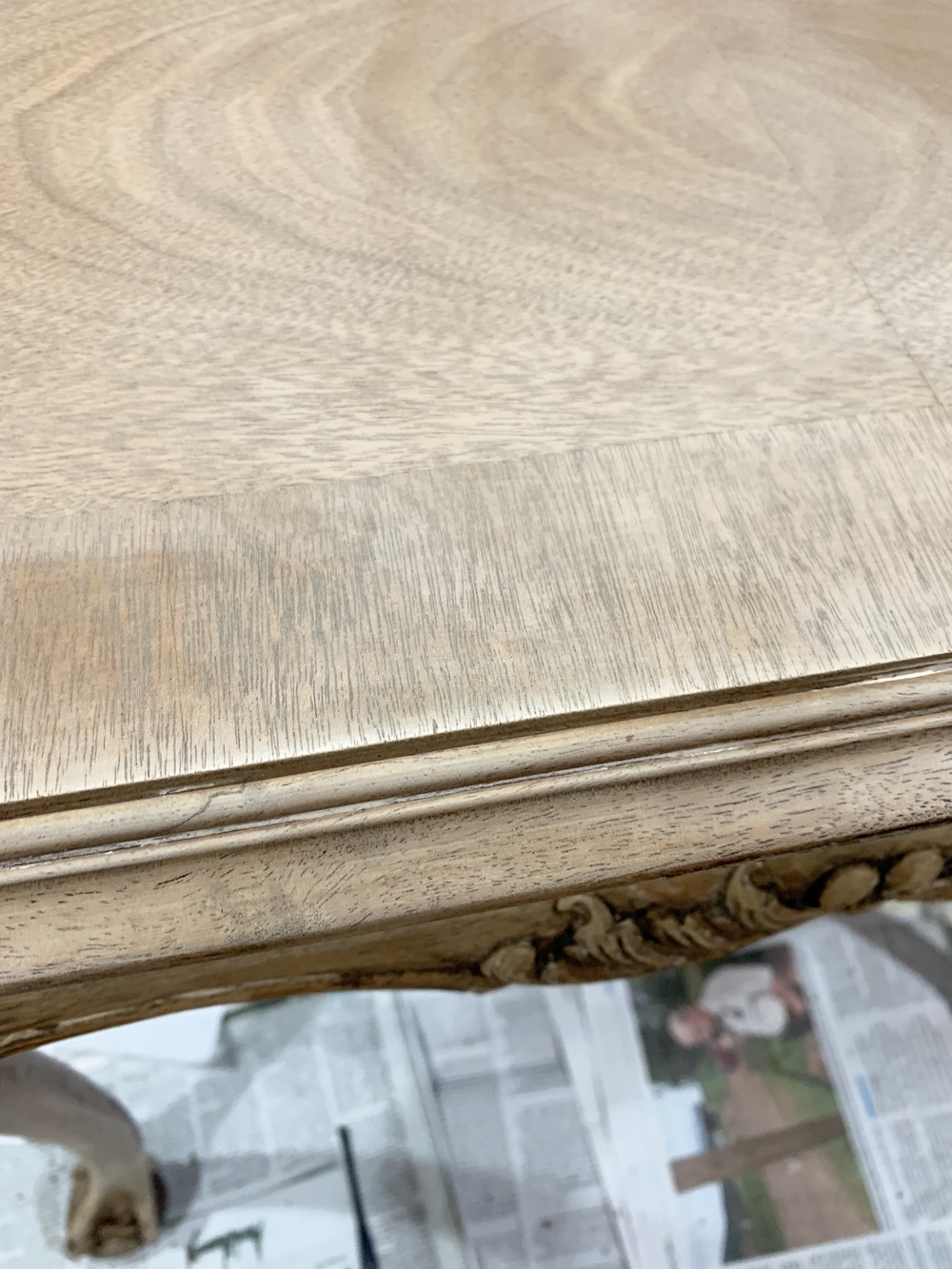 Prepare Table for Refinishing Stripped Side Table