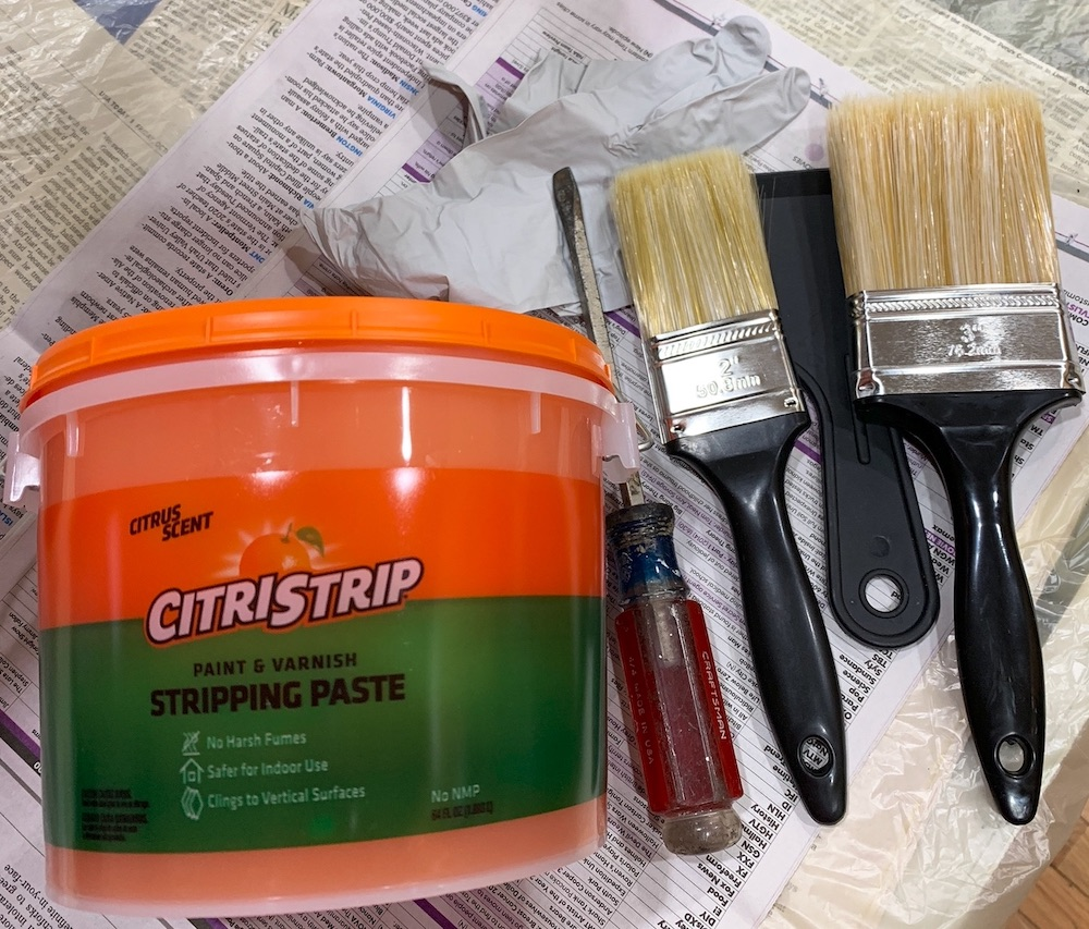 How to Strip Varnish From a Side Table Stripping Supplies for Table #DIY #DIYFurnitureStripping #FurnitureRefinish #VarnishStripping