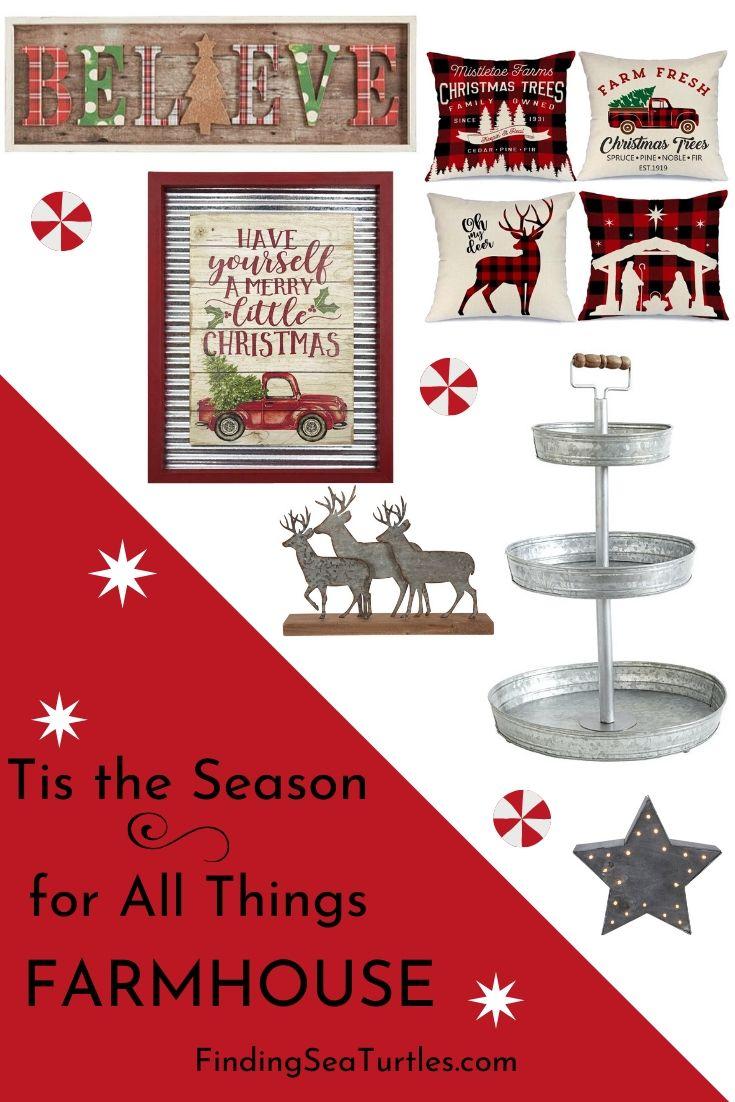Tis the Season for All Things Farmhouse #Decor #Christmas #Farmhouse #ChristmasDecor #FarmhouseDecor #FarmhouseChristmasDecor #HolidayDecor