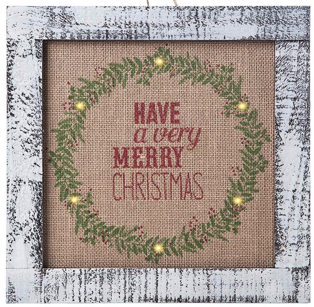 Affordable Christmas Accents Wood Holiday Wall Hanging #Decor #ChristmasDecor #AffordableChristmasDecor #Christmas #ChristmasAccents #AffordableDecor