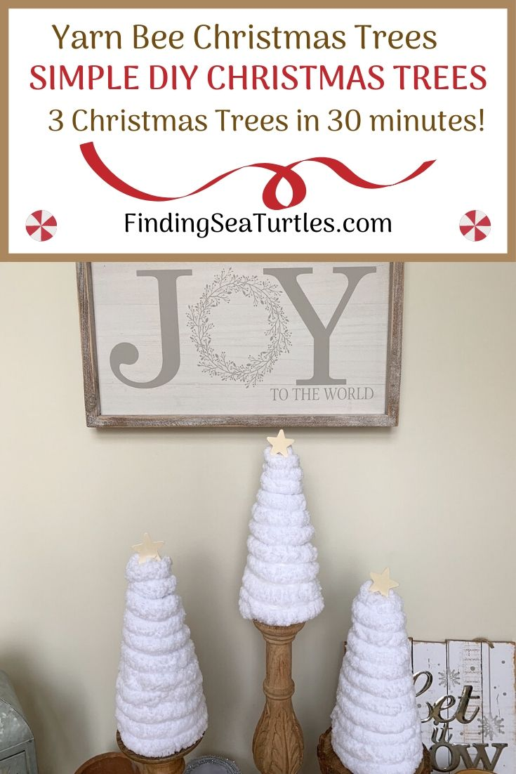 Yarn Bee Christmas Trees Simple DIY Christmas Trees #DIY #DIYChristmasTree #ChristmasDecor #ChristmasTableTop #DIYChristmasProject