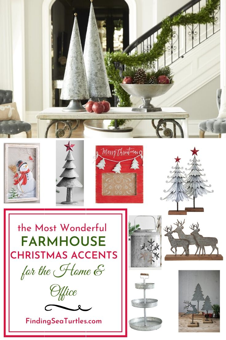 the Most Wonderful FARMHOUSE Christmas Accents for the Home Office #Decor #Christmas #Farmhouse #ChristmasDecor #FarmhouseDecor #FarmhouseChristmasDecor #HolidayDecor