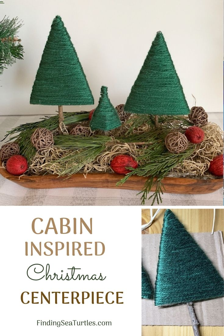 CABIN INSPIRED Christmas Centerpiece #DIY #DIYChristmasCenterpiece #ChristmasDecor #ChristmasTableTop #DIYChristmasProject #RusticDecor #ChristmasCenterpiece