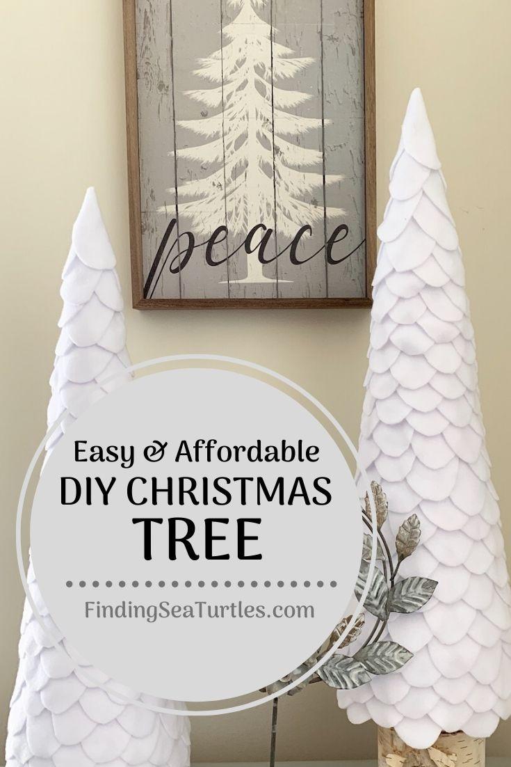 Easy & Affordable DIY Christmas Tree #DIY #DIYChristmasTree #Christmas #ChristmasDecor #ChristmasTableTop #DIYChristmasProject #ChristmasTrees