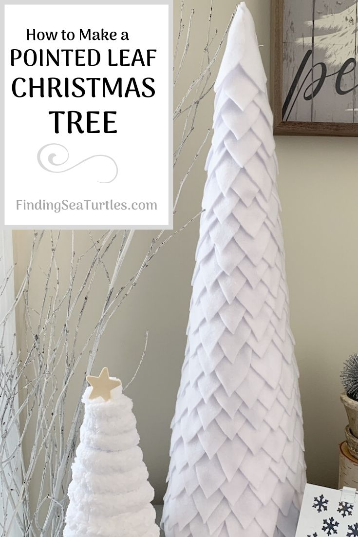 How to Make a Pointed Leaf Christmas Tree 2 #DIY #DIYChristmasTree #ChristmasDecor #ChristmasTableTop #DIYChristmasProject #FeltChristmasTree