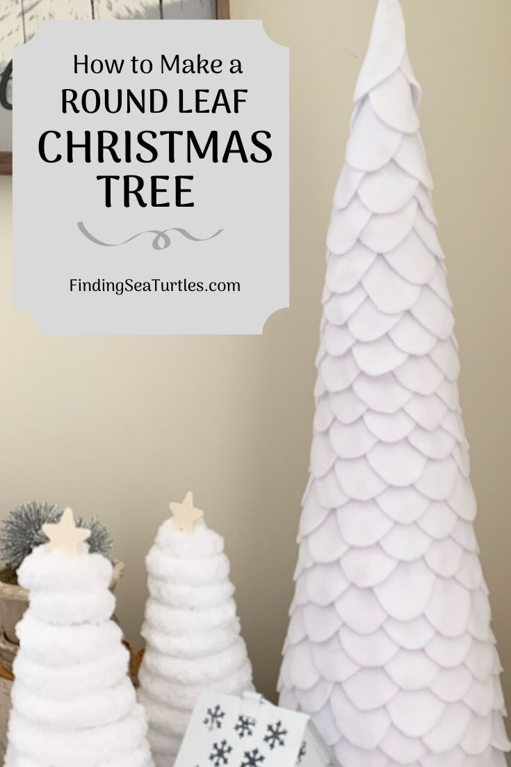 How to Make a Round Leaf Christmas Tree #DIY #DIYChristmasTree #Christmas #ChristmasDecor #ChristmasTableTop #DIYChristmasProject #ChristmasTrees