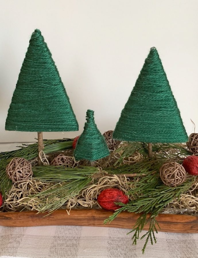 How to Make Yarn Wrapped Christmas Trees
