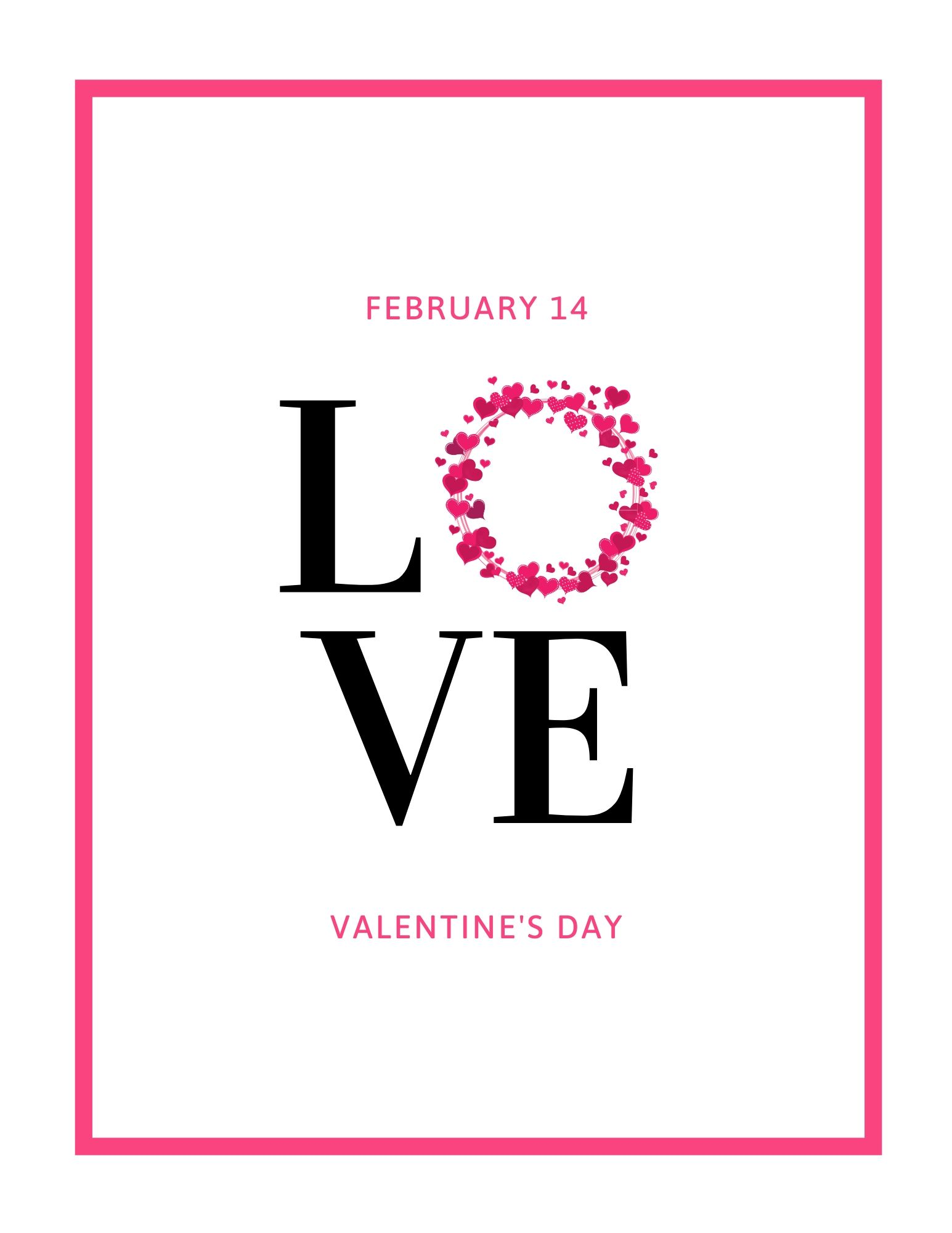 Valentines Day Free Printable Wall Art Love 1 #ValentinesDay #ValentineWallArt #DIY #WallArt #DIYDecor