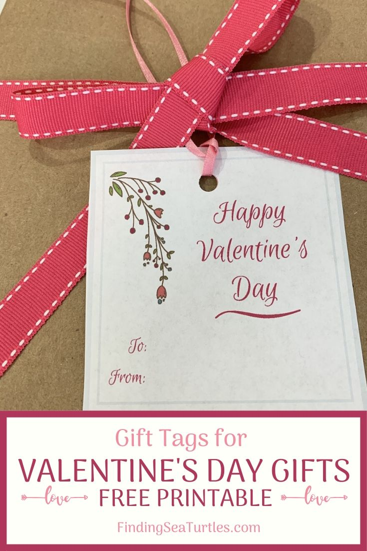 Gift Tags for Valentine's Day Gifts Free Printable #ValentinesDay #ValentineGifts #DIY #GiftTags