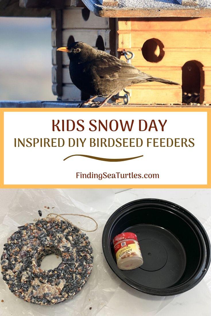 Kids Snow Day Inspired DIY Birdseed Feeders #FeedTheBirds #BirdFood #FeedWildBirds #Gardening #Wildbirds #DIY #DIYBirdFood #BirdCakes