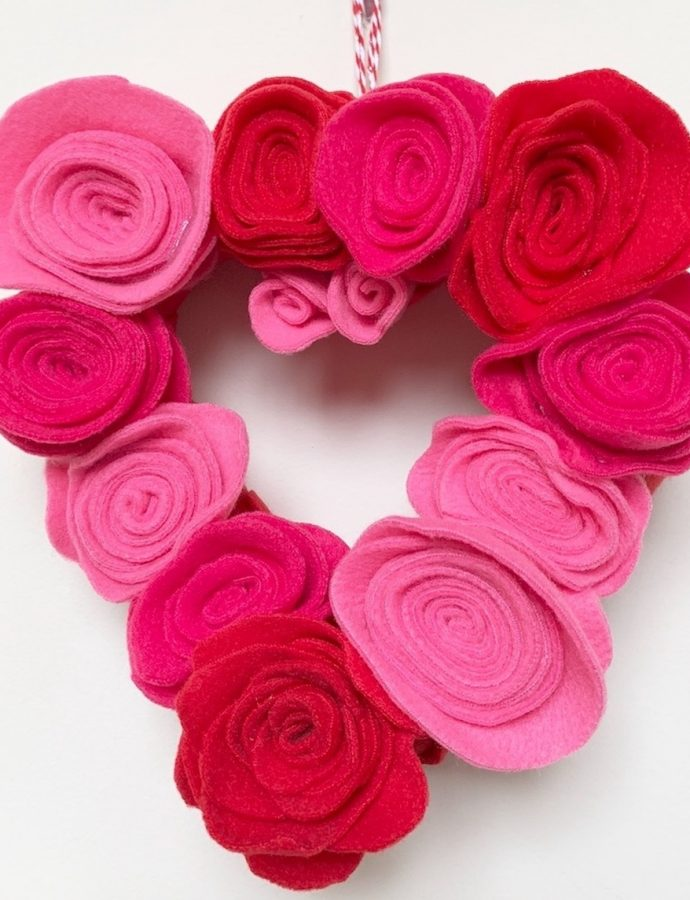 How to Make a Rosette Heart Wreath