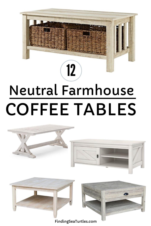 12 Neutral Farmhouse Coffee Tables #Farmhouse #FarmhouseDecor #Decor #CountryStyleDecor #CoffeeTables #CountryDecor #AffordableFarmhouse