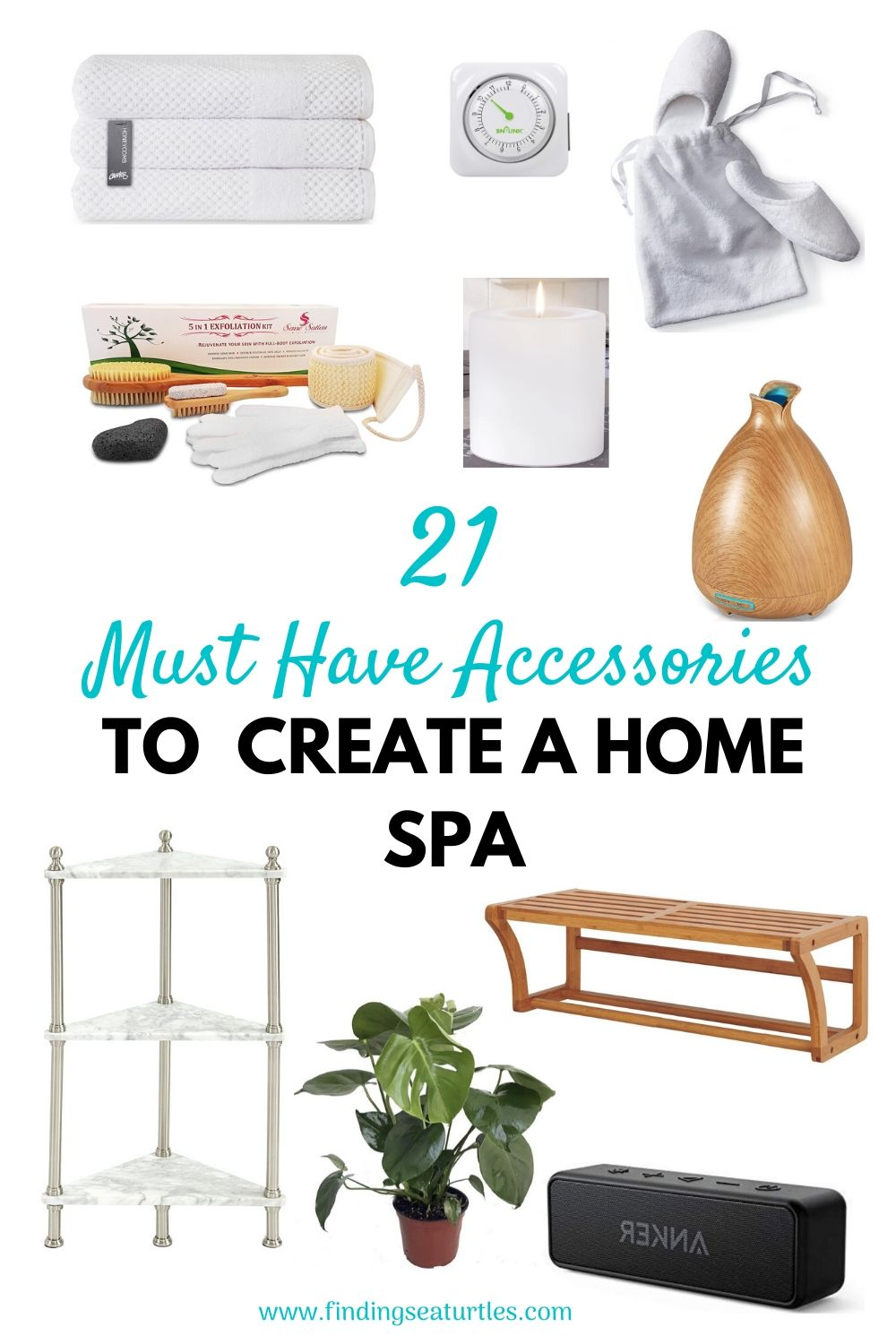 21 Must Have Accessories to Create a Home Spa #Spa #bathroom #HomeSpa #PamperYourself #SpaAccessories #MeTime #BathSpa #DIYHomeSpa #Relax #Soothing