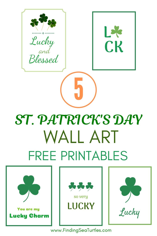5 St Patricks Day Wall Art Free Printables #StPatricksDay #StPatricksWallArt #DIY #WallArt #DIYDecor