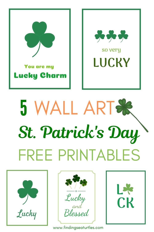 5 Wall Art St Patricks Day Free Printables #StPatricksDay #StPatricksWallArt #DIY #WallArt #DIYDecor