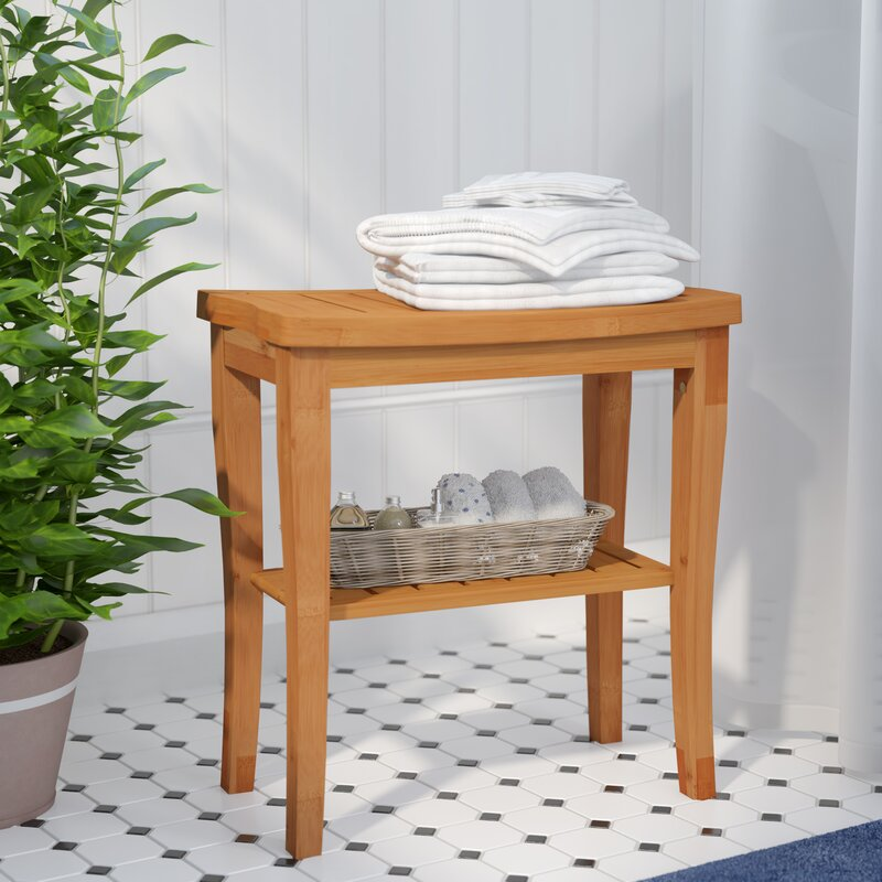 Pamper Yourself Bamboo Deluxe Bench Shower Seat #Spa #bathroom #HomeSpa #PamperYourself #SpaAccessories #MeTime #BathSpa #DIYHomeSpa #Relax #Soothing