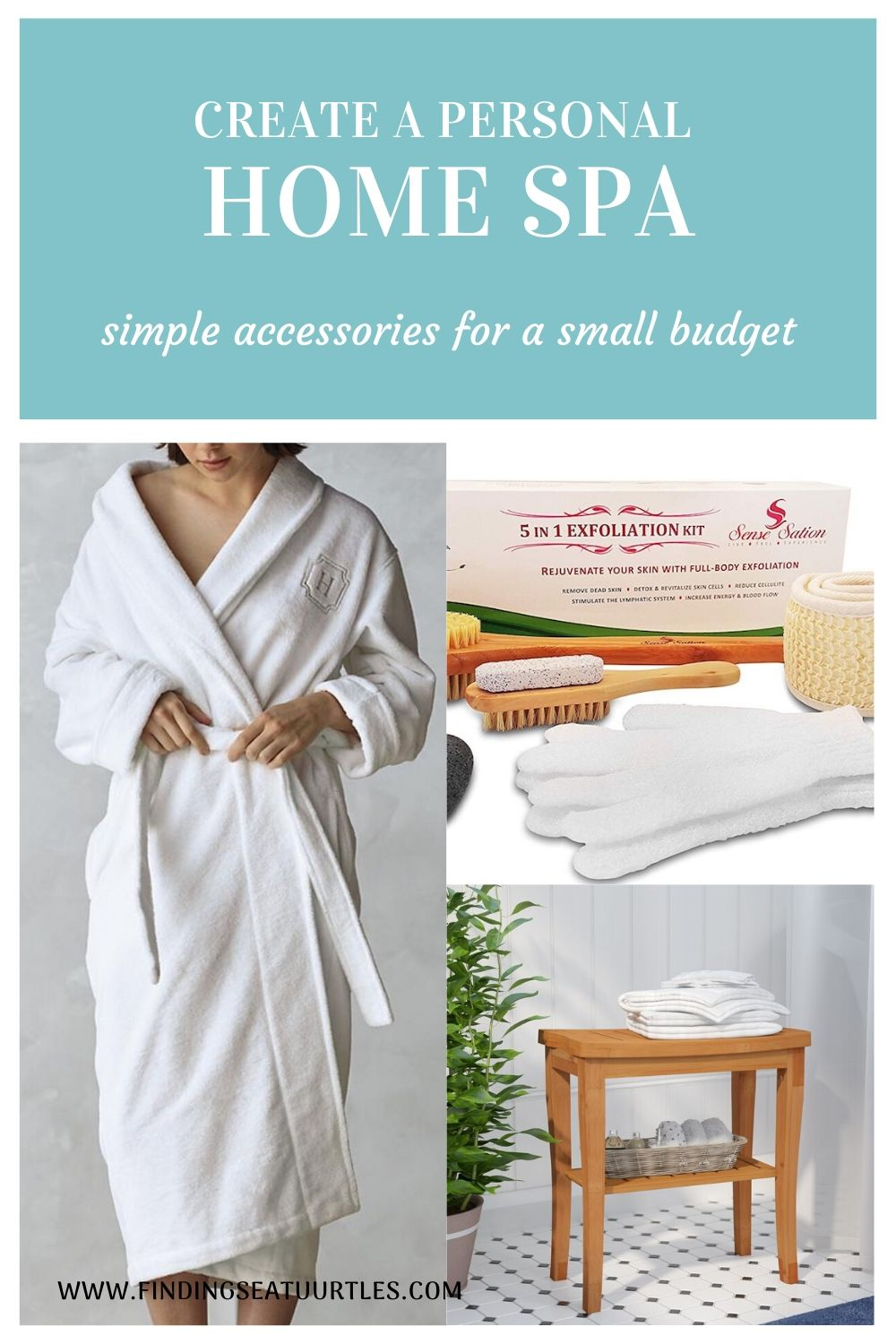 Create a Personal Home Spa simple accessories for a small budget #Spa #bathroom #HomeSpa #PamperYourself #SpaAccessories #MeTime #BathSpa #DIYHomeSpa #Relax #Soothing