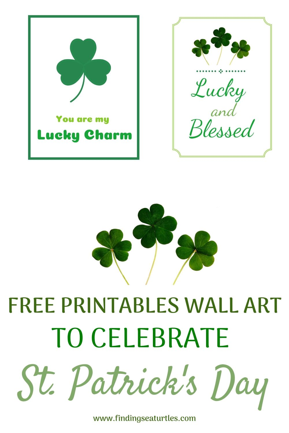 FREE PRINTABLES Wall Art to Celebrate ST PATRICK'S DAY #StPatricksDay #StPatricksWallArt #DIY #WallArt #DIYDecor