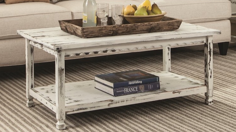 Farmhouse Coffee Tables - Magnum Coffee Table #Farmhouse #FarmhouseDecor #Decor #CountryStyleDecor #CoffeeTables #CountryDecor #AffordableFarmhouse