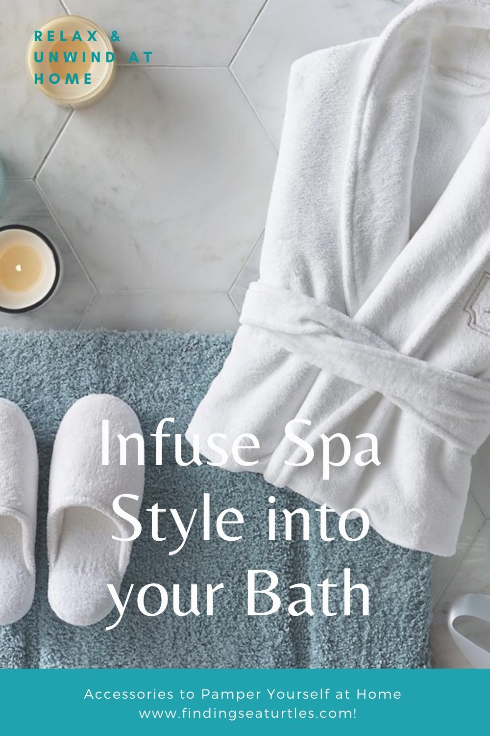 Relax Unwind at Home Infuse Spa Style into your Bath #Spa #bathroom #HomeSpa #PamperYourself #SpaAccessories #MeTime #BathSpa #DIYHomeSpa #Relax #Soothing