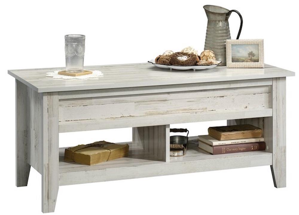 For Storage and Organization Riddleville Coffee Table #Farmhouse #FarmhouseDecor #Decor #CountryStyleDecor #CoffeeTables #CountryDecor #AffordableFarmhouse