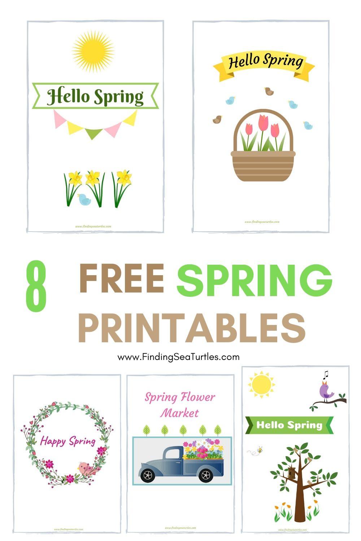 8 Free Spring Printables 2020 #HelloSpring #HelloSpring #HelloSpringPrintables #HelloSpringWallArt #DIY #WallArt #DIYDecor