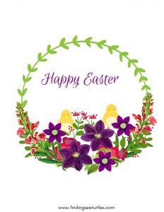 Easter Free Printable Wall Art Happy Easter 2020 #Easter #EasterPrintables #Printables #EasterWallArt #DIY #WallArt #DIYDecor
