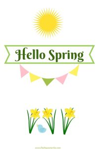 Hello Spring 2020 #HelloSpring #HelloSpring #HelloSpringPrintables #HelloSpringWallArt #DIY #WallArt #DIYDecor