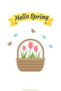 Hello Spring 2020 Free Printables #HelloSpring #HelloSpring #HelloSpringPrintables #HelloSpringWallArt #DIY #WallArt #DIYDecor