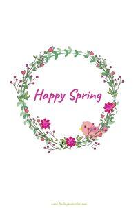 Hello Spring 2020 Happy Spring Wreath #HelloSpring #HelloSpring #HelloSpringPrintables #HelloSpringWallArt #DIY #WallArt #DIYDecor
