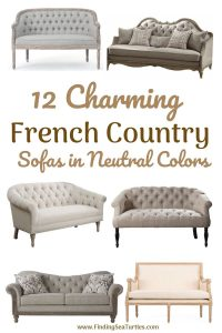 12 Charming French Country Sofas in Neutral colors #FrenchCountry #FrenchCountryDecor #Decor #CountryStyleDecor #FrenchCountrySofas #FrenchDecor #Sofas