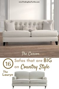 16 Sofas that are big on Country Style #Farmhouse #FarmhouseDecor #Decor #CountryDecor #FarmhouseSofas #Sofas #AffordableFarmhouse #CountryStyle #VintageDecor