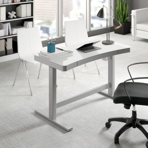12 Best Home Office Upgrades - Belda Height Adjustable Standing Desk #HomeOffice #HomeOfficeDecor #WorkAtHome #WorkFromHome #HomeOfficeTools #HomeOfficeUpgrades #GirlBoss #GirlBossDecor #WorkAtHomeMom