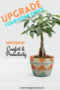 Comfort and Productivity Upgrades For Home Offices #homeoffice #homedecor #workfromhome #productivity #worksmarter