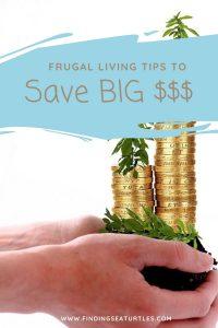 FRUGAL LIVING tips to Save Big #Frugal #FrugalLiving #FrugalLife #SaveMoney #MoneySaving #Saver #MoneySavingTips #Thrifty #FamilyBudget #LiveFrugally #DIY