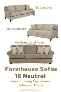 Farmhouse Sofas 16 Neutral ways to bring Farmhouse into your Home #Farmhouse #FarmhouseDecor #Decor #CountryDecor #FarmhouseSofas #Sofas #AffordableFarmhouse #CountryStyle #VintageDecor