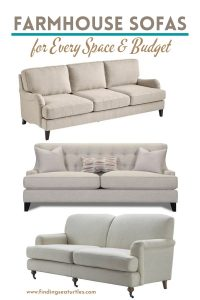 Farmhouse Sofas for Every Space and Budget #Farmhouse #FarmhouseDecor #Decor #CountryDecor #FarmhouseSofas #Sofas #AffordableFarmhouse #CountryStyle #VintageDecor