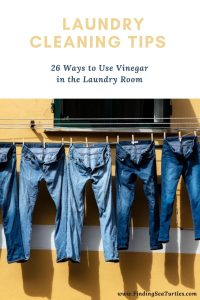 LAUNDRY CLEANING Tips 26 Ways to Use Vinegar in the Laundry Room #Laundry #WashingClothes #CleanClothes #Vinegar #CleaningwithVinegar #SaveMoney #SaveTime #FrugalLiving #FrugalHome