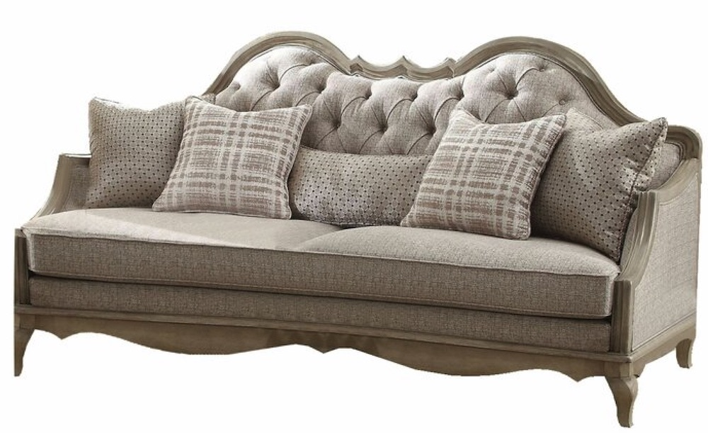 French Country Sofas Lambdin Wooden Sofa #FrenchCountry #FrenchCountryDecor #Decor #CountryStyleDecor #FrenchCountrySofas #FrenchDecor #Sofas
