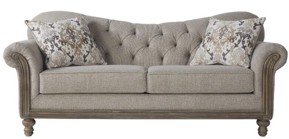 Larrick Fabric Tufted Standard Sofa #FrenchCountry #FrenchCountryDecor #Decor #CountryStyleDecor #FrenchCountrySofas #FrenchDecor #Sofas