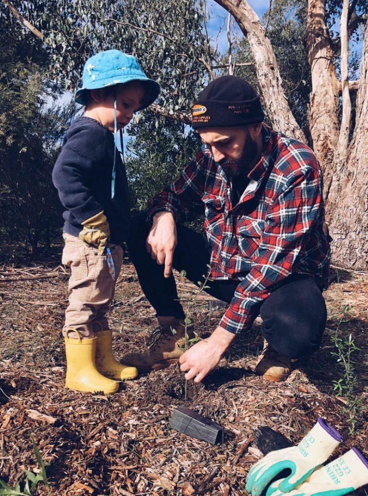 Family Planting a Tree #SpringGarden #Gardening #SpringCleaning #SprngGardenCleaning #SpringChores #BenefitsofGardening #GardenWorkOut