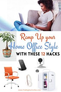 Ramp Up your Home Office Style with these 12 Hacks #HomeOffice #HomeOfficeDecor #WorkAtHome #WorkFromHome #HomeOfficeTools #HomeOfficeUpgrades #GirlBoss #GirlBossDecor #WorkAtHomeMom